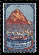 Swiss Poster Stamp Cinderella Vignette Erinoffilo Reklamemarke Switzerland Shoes Schuhe Chaussures Creme Siral Glarus. - Vignetten (Erinnophilie)