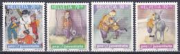 Schweiz Switzerland Helvetia 1999 Pro Juventute Kinder Children Bücher Books Kinderbücher Esel Donkey, Mi. 1701-4 ** - Switzerland