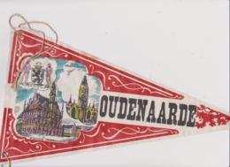 Ancien Fanion Touristique Belgique OUDENAARDE AUDENARDE  (vintage Années 60) Scan En 2 Parties Du Fait De La Longueur - Obj. 'Remember Of'