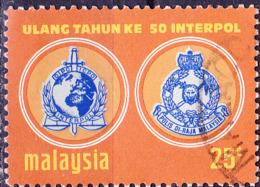 Malaysia - 50 Jahre Interpol (MiNr: 107) 1973 - Gest Used Obl - Maleisië (1964-...)