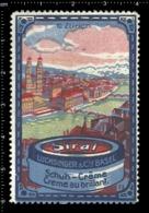 Swiss Poster Stamp Cinderella Vignette Erinoffilo Reklamemarke Switzerland Shoes Schuhe Chaussures Creme Siral Zurich. - Vignetten (Erinnophilie)