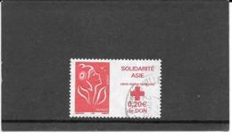 FRANCE 2005   SOLIDARITE ASIE   CROIX-ROUGE FRANCAISE   MARIANNE DE LAMOUCHE.TIMBRE GOMME CACHET ROND. Y&T: N° 3745 - 2013-... Marianne De Ciappa-Kawena