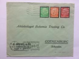 GERMANY 1934 Cover Hamburg To Gothenburg Sweden - Germany