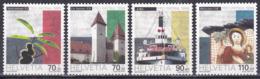 Schweiz Switzerland Helvetia 1999 Pro Patria Vaterland Kultur Culture Landschaften Landscapes Raddampfer, Mi. 1681-4 ** - Switzerland