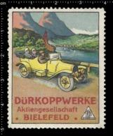 Old German Poster Stamp Cinderella Vignette Erinoffilo Reklamemarke Old Time Car, Auto, River Fluss. - Vignetten (Erinnophilie)