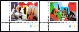1995, Vatican, 1161/62 MNH **,  Die Weltreisen Von Papst Johannes Paul II. (1989 Bis 1994). - Vatican