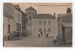 LA PLAINE-sur-MER (Loire Inf.) - Rue De Pornic, Vers L'Eglise - Animée - Circulée - Vieille Voiture - BE - N°14. - La-Plaine-sur-Mer