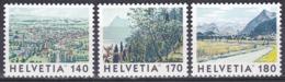 Schweiz Switzerland Helvetia 1998 Tourismus Tourism Landschaften Landscapes Kunst Arts Gemälde Paintings, Mi. 1655-7 ** - Schweiz