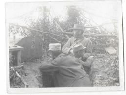 GUERRE 1914-18 Photographie BOIS DE MAUCOURT Poste D'écoute Militaires Gros Plan - France