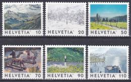 Schweiz Switzerland Helvetia 1998 Tourismus Tourism Landschaften Landscapes Kunst Arts Gemälde Paintings, Mi. 1643-8 ** - Schweiz