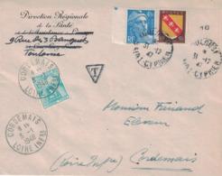 HAUTE GARONNE - TOULOUSE - 31-12-1947 - TAXE 2F - CORDEMAIS - LOIRE INFERIEURE. - Portomarken