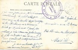40-cachet Hôpital Temp. N°71 Bis De Pontonx-sur-Adour Sur CP De 1915-cachet Rare - Marcophilie (Lettres)