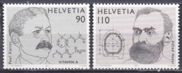 Schweiz Switzerland Helvetia 1997 Nobelpreis Nobel Prize Persönlichkeiten Biochemie Chemie Karrer Vitamin, Mi. 1623-4 ** - Schweiz