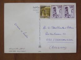"Egypt  Postcard ""Luxor Temple - Ramses II"" To Belgium - Archaeology - Égypte"