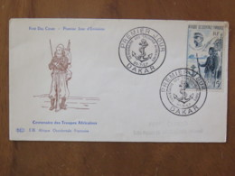 Senegal (French Occidental Africa) 1957 FDC Cover To France - Military Uniform - Covers & Documents