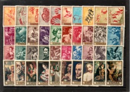 España Nº 1779-83 + Nº 1854-63 + Nº 1910-19 + Nº 1963-72, Tema Pintura, Series Completas En Nuevo. - España