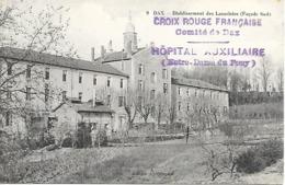 40-cachet Hôpital Aux. De Dax-Notre-Dame-du-Pouy Sur CP De 1914 - Marcophilie (Lettres)