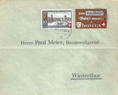 Brief  Ambulant - Winterthur  (Mischfrankatur)          1942 - Switzerland