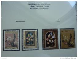 Emissioni Congiunte CINA 2005 Famous Paintings Flowers.Joint Issue With Liechtenstein 2 Serie Cpl. 4v. Nuovi** Perfetti - Gemeinschaftsausgaben