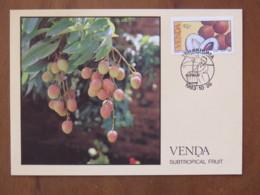Venda 1983 FDC Postcard - Fruits Litchi - Venda