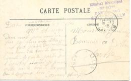 40-cachet Hôpital Municipal N°60 Bis De Dax-Ecole Sully Sur Belle CP De Dax En 1915 - Cachet Rare - Marcophilie (Lettres)