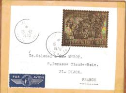 HAUTE VOLTA - TIMBRE OR 1000F POSTE AERIENNE - SUR ETIQUETTE DE COLIS. - Obervolta (1958-1984)