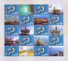 "Azerbaijan Stamps 2019. 25th ANNIVERSARY OF ""CONTRACT OF THE CENTURY"" Oil Derrick Platform Terminal Pipeline AIOC - Azerbaïjan"