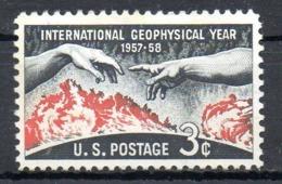 USA. N°643 Sans Gomme De 1958. Année Géophysique. - International Geophysical Year