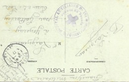 40-cachet Hôpital Aux. N°134 De Poyanne Sur CP De 1917 - Marcophilie (Lettres)