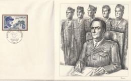 France 1970 FDJ Timbre Et Gravure Decaris  De Lattre De Tassigny Tirage Velin Numéroté à 2000 Exemplaires - Documents De La Poste