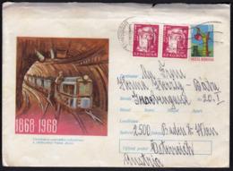 Romania / VALEA JIULUI 1868 - 1968 / Minerals, Train / Postal Stationery - Trains
