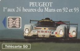 FRANCIA. Peugeot 905 3 - 2 Voitures. 50U. 0397. 07/93. (204). - Sport