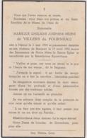IMAGE PIEUSE MORTUAIRE ANCIENNE MME DE VILLERS DU FOURNEAU NAMUR 1903 CHATEAU DE BEAUSART 1952 - Imágenes Religiosas