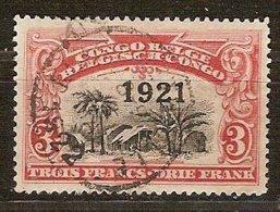 Belgisch Congo Belge 1921 OCBn° 92 (o) Oblitéré Cote 3,25 € Surcharge - 1894-1923 Mols: Used