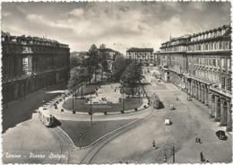 W5194 Torino - Piazza Statuto - Auto Cars Voitures Tram / Viaggiata 1952 - Places