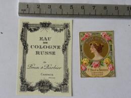 Etiquettes De Parfum - Lot De 2 -  Brun Et Barbier - Labels