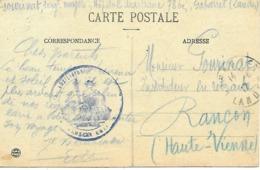 40-cachet Hôpital Aux. N°78 Bis De Gabarret Sur Belle CP En 1917-cachet Défectueux - Marcophilie (Lettres)