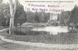 40-cachet Hôpital Formation Sanitaire De St Martin-de--Seignanx Sur CP En 14/18-cachet Rare - Marcofilia (sobres)