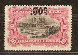 Belgisch Congo Belge 1923 OCBn° 105A (*) MLH Cote 18 € Surcharge - 1894-1923 Mols: Neufs