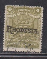 RHODESIA Scott # 87 Used - With Rhodesia Overprint - Great Britain (former Colonies & Protectorates)