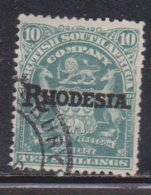 RHODESIA Scott # 98 Used - With Rhodesia Overprint - Great Britain (former Colonies & Protectorates)