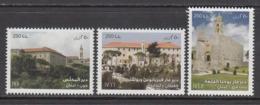 2015 Lebanon Liban Monasteries  Complete  Set Of 3 MNH - Libanon