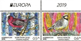 CEPT EUROPA 2019. NATIONAL BIRDS. Azerbaijan Stamps 2019. 2 Stamps From Booklet With Margins - Azerbaïjan