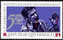 AUSTRIA 2001 - CINCUENTENARIO DEL ALTO COMISIONADO DE LA ONU - YVERT 2179** - UNO