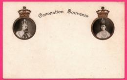 Embossed Coronation Souvenir - Photo EDOUARD VII - ALEXANDRA - Royauté - Roi Et Reine - Portrait - Blason - Familias Reales