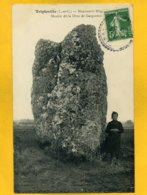 41TR9 - Tripleville - Monument Mégalithique - Menhir Dit La Drue De Gargantua - Frankrijk