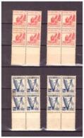 8 Timbres Colonies Algérie N° 198-199 De 1943. Un Seul But La Victoire. Etat Moyen. Un Peu De Rousseur. - Algeria (1924-1962)