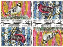 CEPT EUROPA 2019. NATIONAL BIRDS. Azerbaijan Stamps 2019. Tête-bêche Tet-besh From Booklet - Azerbeidzjan