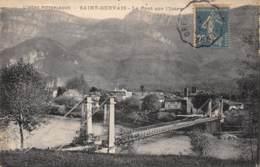 38 - SAINT-GERVAIS - Le Pont Sur L'Isère - Francia