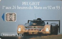 FRANCIA. Peugeot 905 4 - 1 Voiture. 120U. 07/93. 0400. (211). - Sport